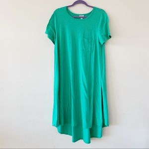 LuLaRoe Spring Green Carly Dress Large L Casual